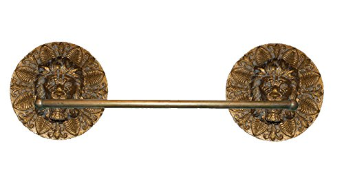 Hickory Manor House Round Lion Towel Bar, Antique Gold