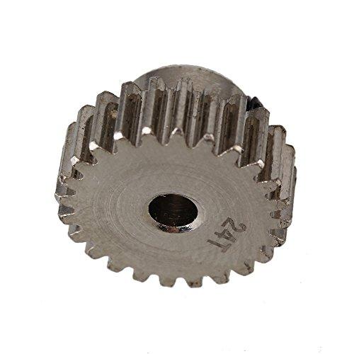 20 Tooth Pinion Gear (BQLZR Silver D10022 Steel 24 Teeth 24T Mental Motor Pinion Gear Set for RC 1:10 Model)