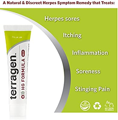 Herpes Outbreak Treatment –HG Treatment MAX- 100% Guaranteed Patented Pain Free Gentle All Natural Treats Symptoms Caused from Herpes Outbreak- Discomfort Pain Itch Sores Ulcers Blisters by Terragen