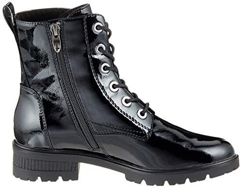 25280 black Noir Patent Femme 18 Tamaris 21 Bottes Rangers PnS1wwvq