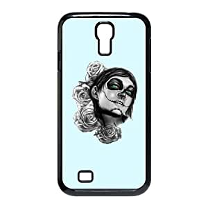 Samsung Galaxy S4 9500 Cell Phone Case Black Day of the Dead adyj