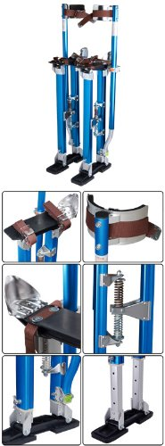 24'' - 40'' Adjustable Aluminum Drywall Stilts Blue