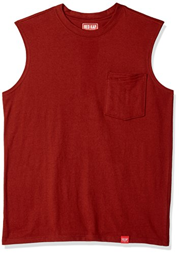 Red Kap Men's Muscle Tee, Brick Red, X-Large (Tee Sleeveless Muscle)