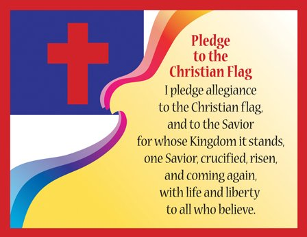 Pledge to the Christian Flag Say-It Poster