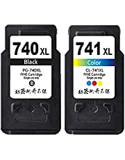 Remanufactured Ink Cartridge Replacement for Canon PG-740XL CL-741XL Ink Multi Pack fits MG2170 MG2270 MG3170 MG3270 MG4170 MG4270 MX377 MX397 MX437 MX457 MX517 MX527 Printers