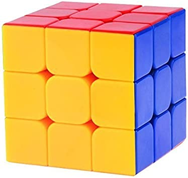 MAGNIFICO High Stability, Stickerless, Amazing Stress Reliever Easy Turning and Smooth Play Magic Speed Cube Puzzle Toy, 3x3x3 (Multicolour, CUB333)