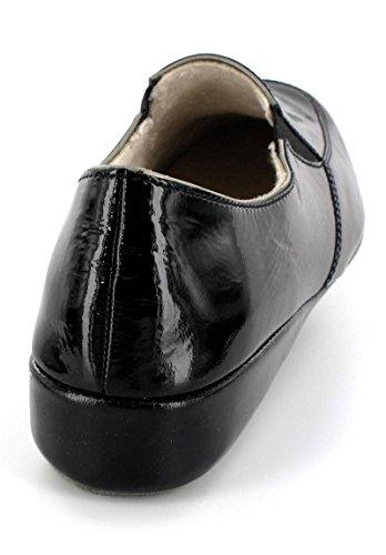Fortuna Piel Mujer Negro Slipper Laca 8r8xwP