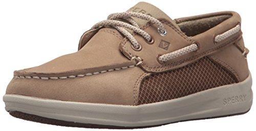 Sperry Boys' Gamefish Boat Shoe, Light Tan, 6.5 Wide US Big Kid