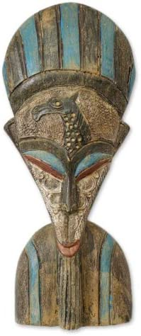 NOVICA Large Multicolor Sese Wood and Aluminum Sculpture, 18. Tall She Empowers The Hunter