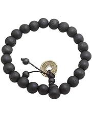 10MM Fashion Charming Men Women Buddhist Beads Bracelet Wooden Unisex Bracelet Bangle Jewelry All Match Clothes Black - Black