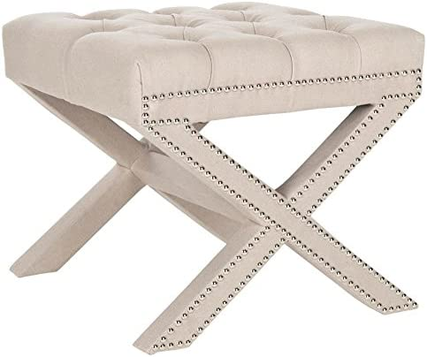 Safavieh Mercer Collection Patrice Ottoman, Taupe