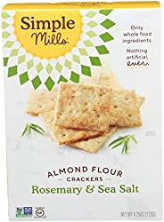 Simple Mills Almond Flour Crackers, Rosemary & Sea Salt, Gluten Free, Flax Seed, Sunflower Seeds, Corn Fre