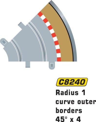 Scalextric C8240 Borders Tan Outer Radius - 45 Degrees