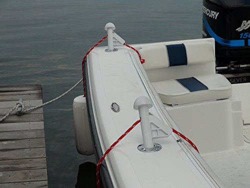 Center Console Boat Accessories - DLFender Power Boat Fender Adjuster, White (Pack of 2)