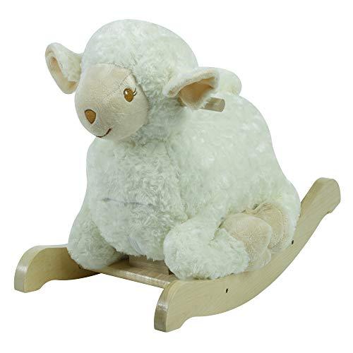 (Lambkin Lamb Rocker | Horse Plush Butterfly Baby Toy with Wooden Rocking Chiar Horse/Kid Rocking Toy/Baby Rocking Horse/Rocker/Animal Ride)