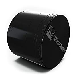 Golden Gate Grinder 2.5 Inch Ultimate Herb Grinder 4-piece Anodized Aluminum 61 NO PLASTIC PARTS - Our Grinders Are Made From Aircraft Grade Aluminum On CNC Machines For A Perfect Fit, Sharpest Teeth and Enduring Durability. Our Grinders Are Made From Heavy Duty Aluminum. No Zinc, No Cheap Parts And No GIMMICKS. SHARP ALL METAL TEETH - Anodized Aluminum - Forty Nine ALL METAL NOT PLASTIC Sharp Diamond Shaped Grinding Teeth - Thirty Two Holes. We Saved No Expense To Offer The Sharpest Most Durable All Metal Teeth And Grinder BEST QUALITY AND VALUE - Heavy Duty Grinder With Powerful Neodymium Magnets - Keep The Lid In Place, Your Herbs Fresh And The Odors In The Grinder. The Lid Is Tight And You Can Grab Your Grinder By The Lid And Shake It And The Lid Stays On - No Danger Of Spillage.