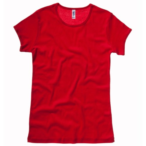 Baby rib short sleeve crew neck T-shirt COLOUR Red SIZE M