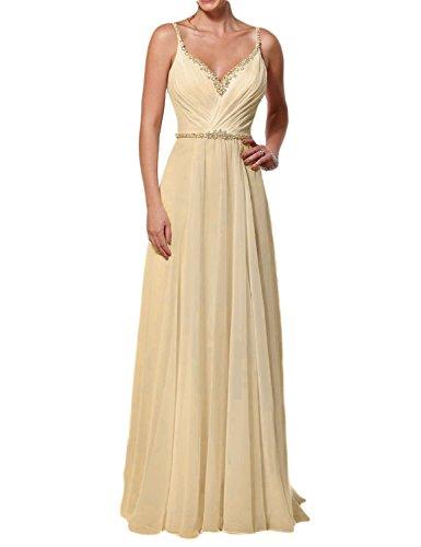 5c2fd8893a9 OYISHA 2016 Backless Chiffon Beach Wedding Dress A-Line Beaded Bride Gown  WD176 Champagne 2