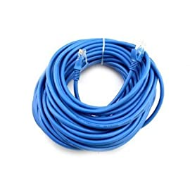 Cat6 75FT Networking RJ45 Ethernet Patch Cable Xbox  PC  Modem  PS4  Router - (75 Feet) Blue 105 Cat6 - 4 Stranded UTP (Unshielded Twisted Pair) - CCA Meets all Cat6 TIA/EIA-568-B-2.1, draft 9 standards Certified Transfer Rate: 10/100/1000 mbps (1000Base-T Gigabit)