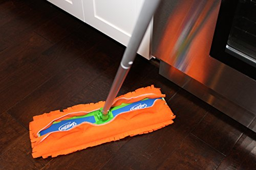 Xanitize Fleece XL Sweeper Mop Refills for Swiffer X-Large - Reusable, Dry Duster, for Hardwoods, Laminates - 5-Pack Rainbow II by Xanitize (Image #2)