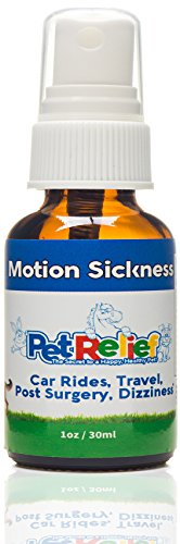 Car Sickness Dog, Safe & Natural Motion Sickness Relief Spray, Lifetime Warranty! 30ml Best Car Sick Dog Relief, Better Than Meds, Dog Travel Vomit Control, No Side Effects! Made In USA By Pet Relief