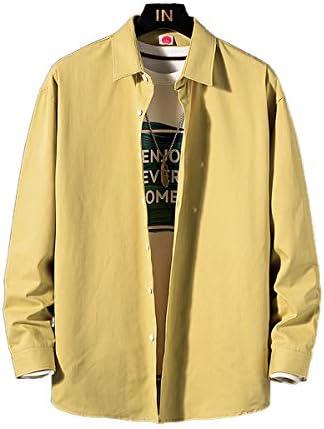 メンズ シャツ カジュアル 綿100% シャツ 春 無地 長袖 ワイシャツ大きいサイズ ボタン付き メンズ シャツ 柔らかい 吸汗速乾 通気性 夏
