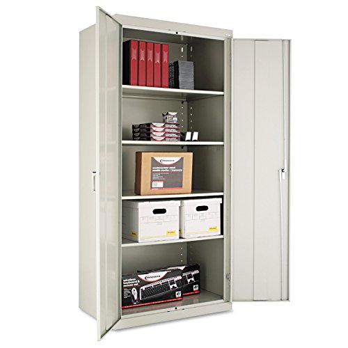 Alera ALECM7824LG Assembled 78'' High Storage Cabinet, w/Adjustable Shelves, 36w x 24d, Light Gray by Alera