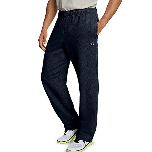 Champion Men's Powerblend Open Bottom Fleece Pant_Navy_XL