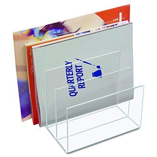 - Crystal Clear Acrylic Desktop File Sorter Holder, 8 x 6 1/2 x 7 1/2 Inches