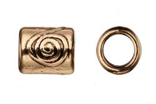 Spiral Tube Bead - 3