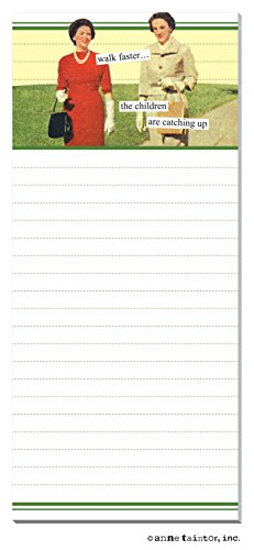 """ANNE TAINTOR 26481 """"Walk Faster"""" Magnetic Notepad"""
