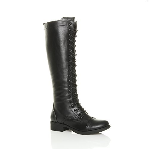 Ladies Biker Boots Size 5 - 3
