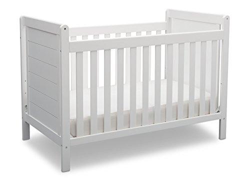Delta Children Sunnyvale 4-in-1 Convertible Crib, Bianca, White