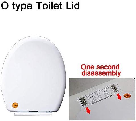V/U/O便座、クイックロック蓋トイレ、高抵抗、高抵抗、厚みのある便座カバー、White-O洗面所に最適