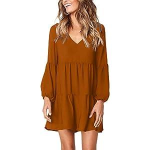Best Epic Trends 41dOU3NUPiL._SS300_ Amoretu Women Summer Tunic Dress V Neck Casual Loose Flowy Swing Shift Dresses