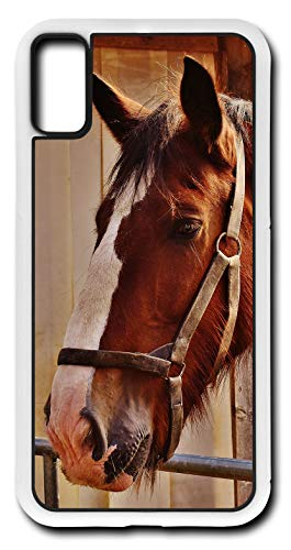 iPhone X Case Horse Racing Kentucky Derby Equine Stable Chase Customizable by TYD Designs in White Rubber