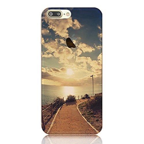 Funda para iphone 7 Plus Sunroyal ® TPU Clara Transparente [Shock-Absorción ] Ultra Slim Bumper Silicona Gel Parachoques Impresión Flexible Carcasa Cover [Anti-Arañazos] Cubierta Protectora Caja del T A-10