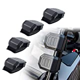 Orion Motor Tech UTV Front Windshield Mount Clamps Straps Kit for Polaris Ranger RZR, Can Am Commander Defender X3 Maverick, Honda Pioneer & More, Side by Side UTV Windshield Brackets Clips for SxS