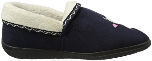 Padders Womens Teddy Full Slipper (403/24) Blu Scuro