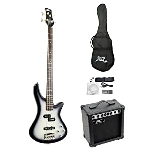 pylepro pgekt50 professional full size electric bass guitar package with amplifier. Black Bedroom Furniture Sets. Home Design Ideas