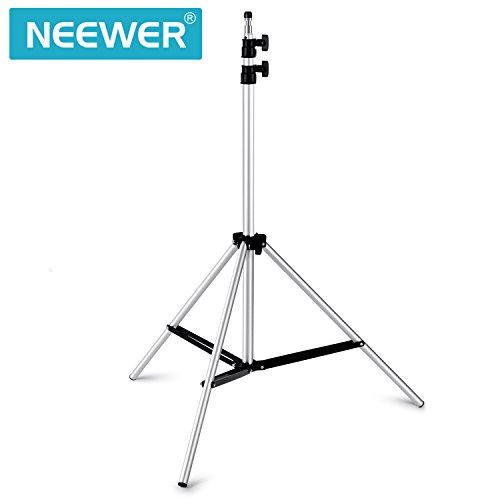 Neewer Max Height 6ft/75inch/190CM Photography Studio Video Adjustable Alluminum Alloy Silver Light Stand for Relfectors, Softboxes, Lights, Umbrellas, Backgrounds (Light Stand Softbox)