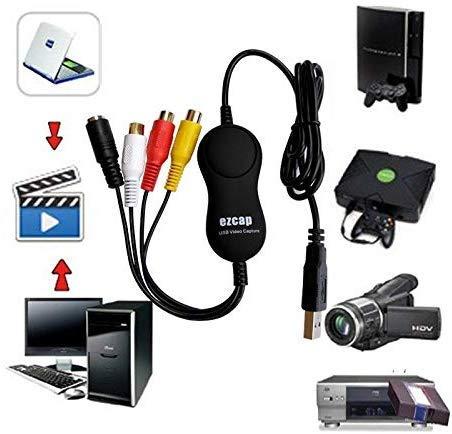 Original USB 2.0 Video Capture Card,VHS,V8,Hi8,8MM,Old Videotape,Camcorder to PC