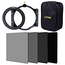 ZOMEI 150mm Full Color (ND2+ND4+ND8+ND16) Filter + Adapter Ring + Holder + 16-slot Case For Cokin Z (95 mm)