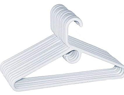 dd04891bacc Amazon.com: 1InTheHome Heavy Duty White Hangers Tubular Plastic ...