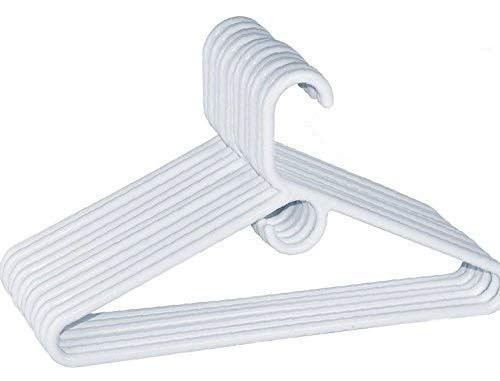 Plastic Tubular Hangers - 1InTheHome Heavy Duty White Hangers Tubular Plastic Hangers, Set of 24 (Heavy Duty)