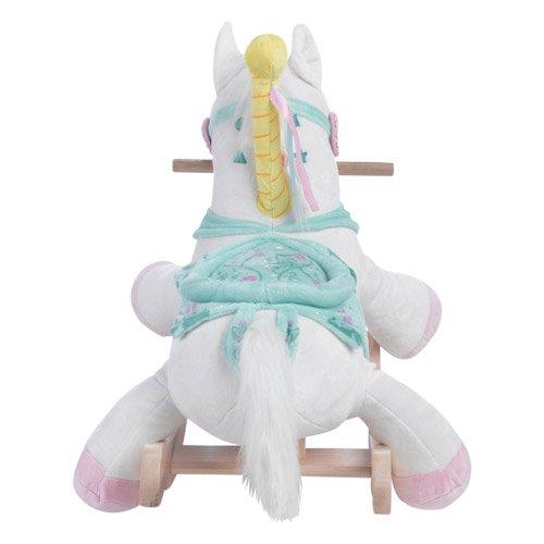 Personalized Carousel Horse Plush Rocker- Engraving/Pink Paint