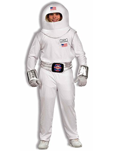 Forum Funny Moon Man Costume, White, One Size -