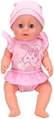 18 Inch Baby Meisje Pop Speelgoed Zeer Simulatie Elektrische Kinderen Pop Speelgoed Met Geluidseffect Zachte Lichaam Babypop Perfect voor Kinderen(Sy011-1)