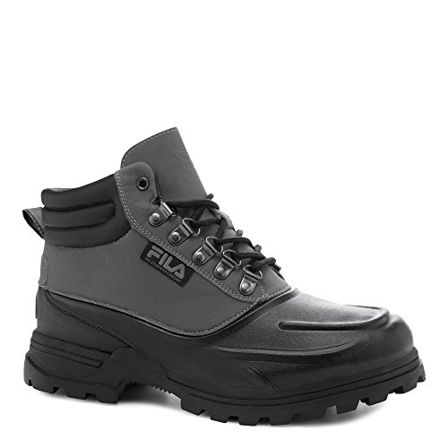 Fila Mens Boots - Fila Men's Weathertec Hiking Boot, Black/Castle Rock/Black, 9.5 M US