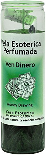 INDIO SPRITIUAL Palm Oil Candle-Money Drawing Green Candle - Esoteric Palm Oil Wax(VEN DINERO (Money Drawing Candle)